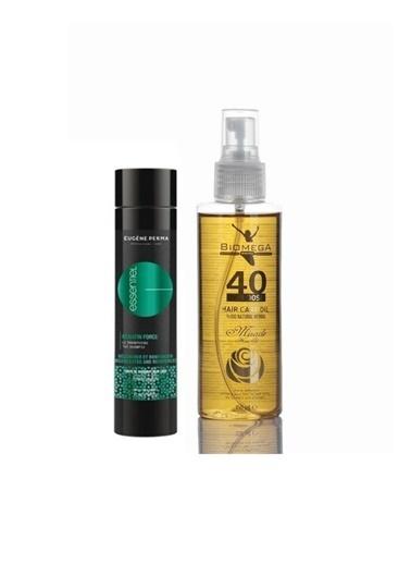 Eugene Perma Eugene Perma Essentiel Keratin Force Şampuan 250 Ml+Biomega 40 Bitkili Doğal Saç Bakım Yağı 150 Ml Renksiz